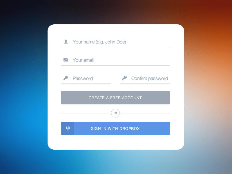 CSSアニメーションでフォームに動きをつける